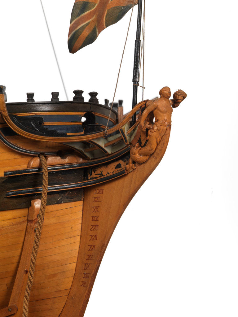 Model of the 'Mermaid' (1784), warship, frigate, 32 guns by George Stockwell
