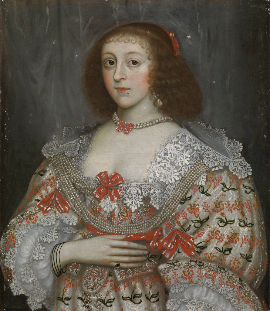 Detail of An unidentified young lady of the time of Charles I by English School