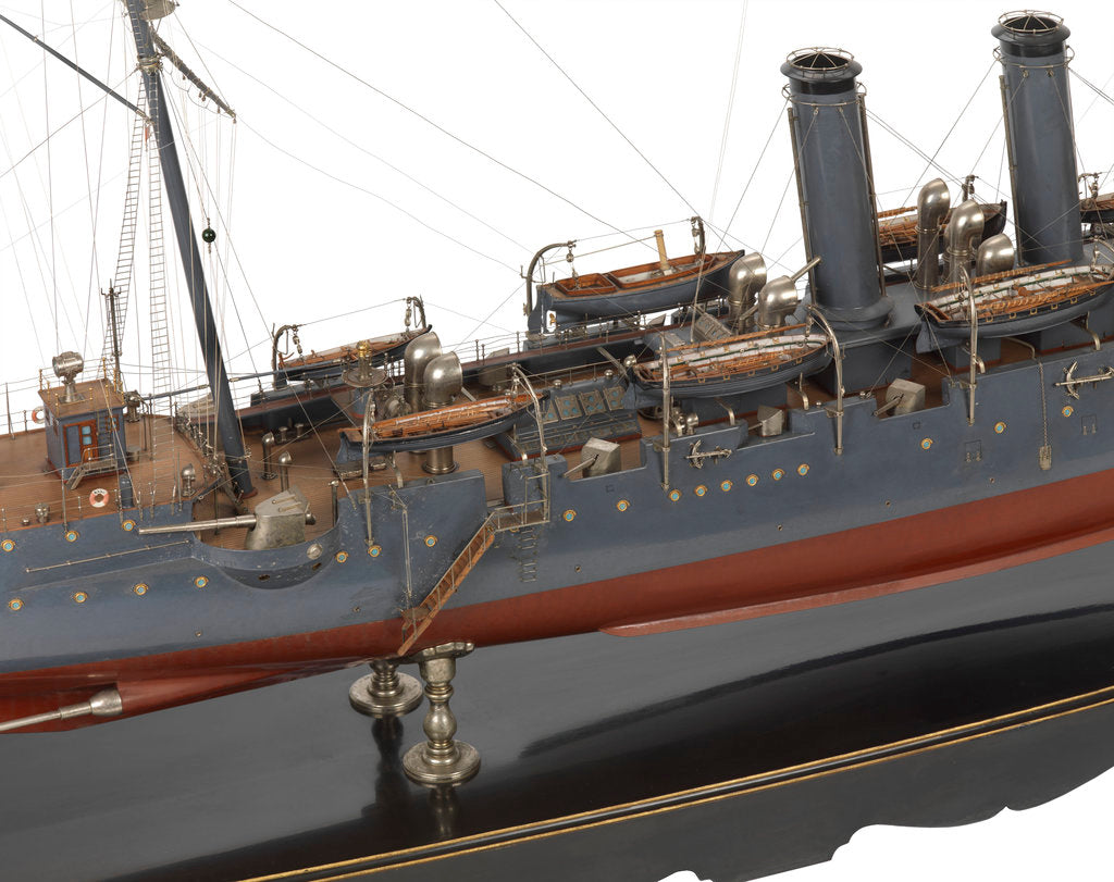 Detail of A warship cruiser the 'Niitaka' (Japan, 1902) by unknown
