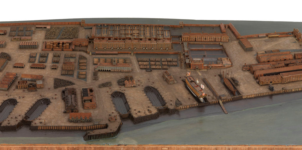 Detail of Topographical model of Chatham Dockyard, 1772-1774 by William Phillips