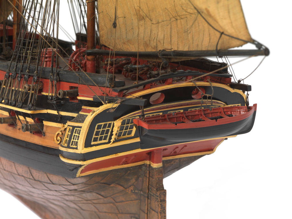 Detail of Model of a warship (1805), Frigate, 38 guns by unknown