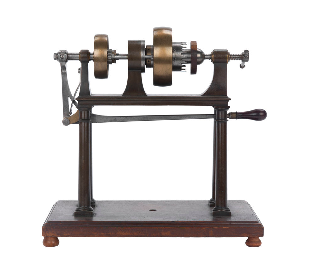 Detail of Rounding and drilling machine model by Marc Isambard Brunel