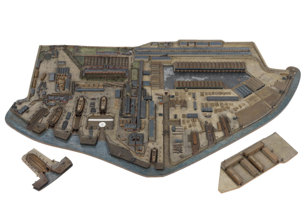 Detail of A togographical model of HM Dockyard Plymouth as it appeared in 1774 by Plymouth Dockyard Personnel