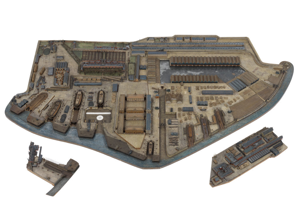 Detail of A topographical model of HM Dockyard Plymouth as it appeared in 1774 by Plymouth Dockyard Personnel