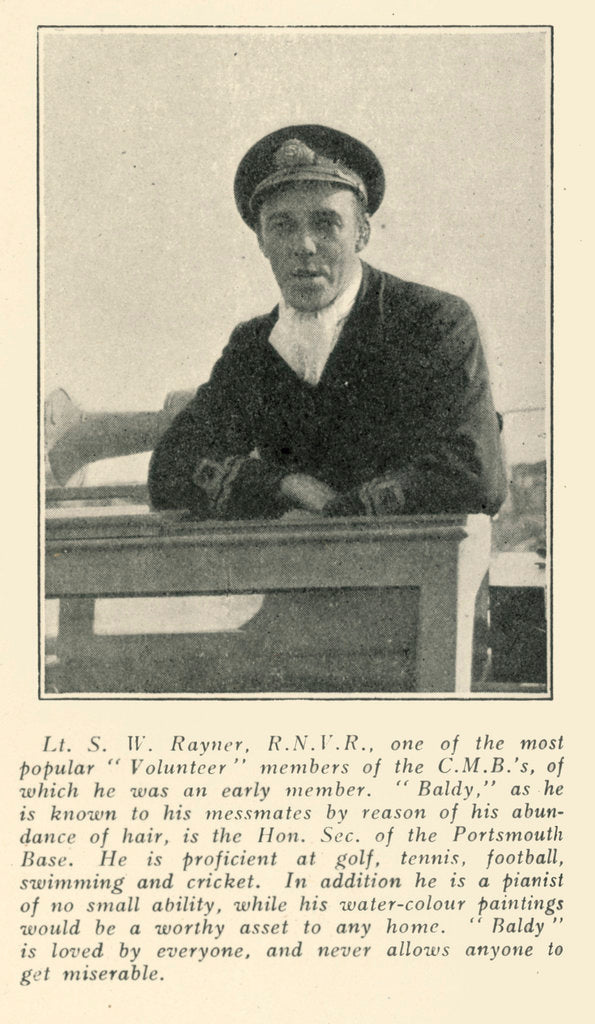 Detail of Lt. S.W. Rayner by unknown