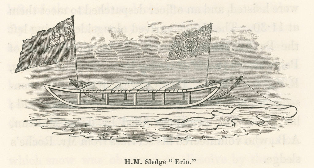 Detail of HM Sledge 'Erin' by unknown