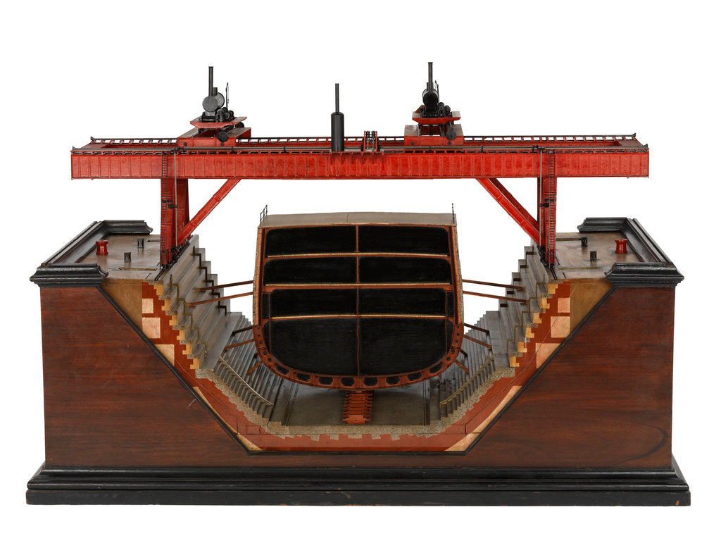 Detail of Steam Travelling Gantry; Warship by unknown