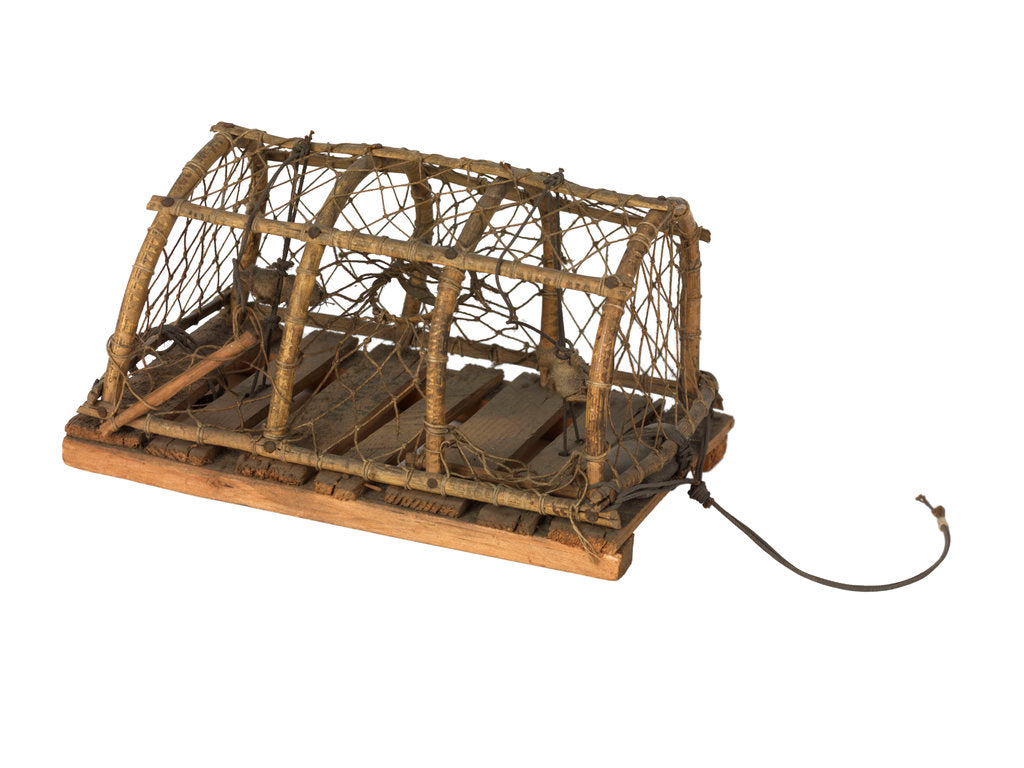 Model of a lobster pot by unknown