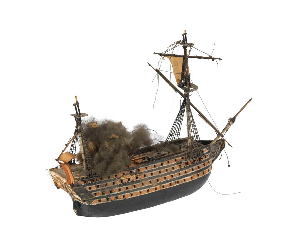 Detail of 'Santissima Trinidad'; warship; 140 guns by William Haines