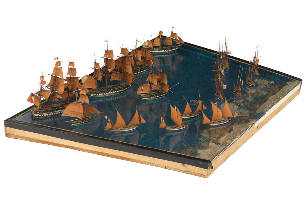 Detail of Model of the entance to the port of Marseille by unknown