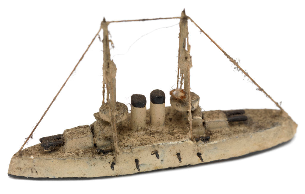 Detail of Instructional waterline recognition model of Japanese battleship HIJMS 'Asahi' (1899) by Gerald John Blake
