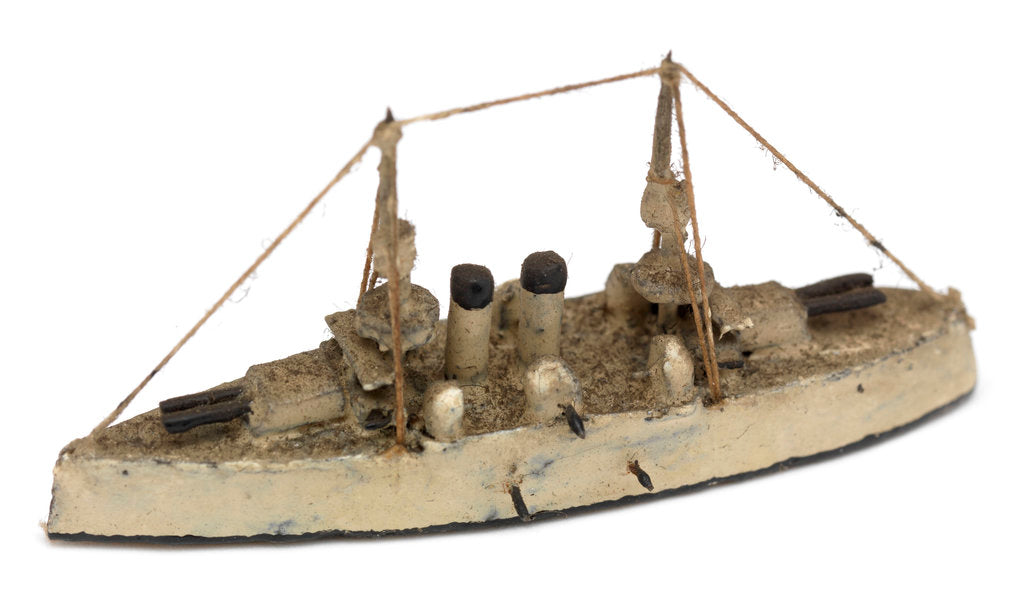 Detail of Instructional waterline recognition model of Japanese battleship HIJMS 'Fuji' (1896) by Gerald John Blake