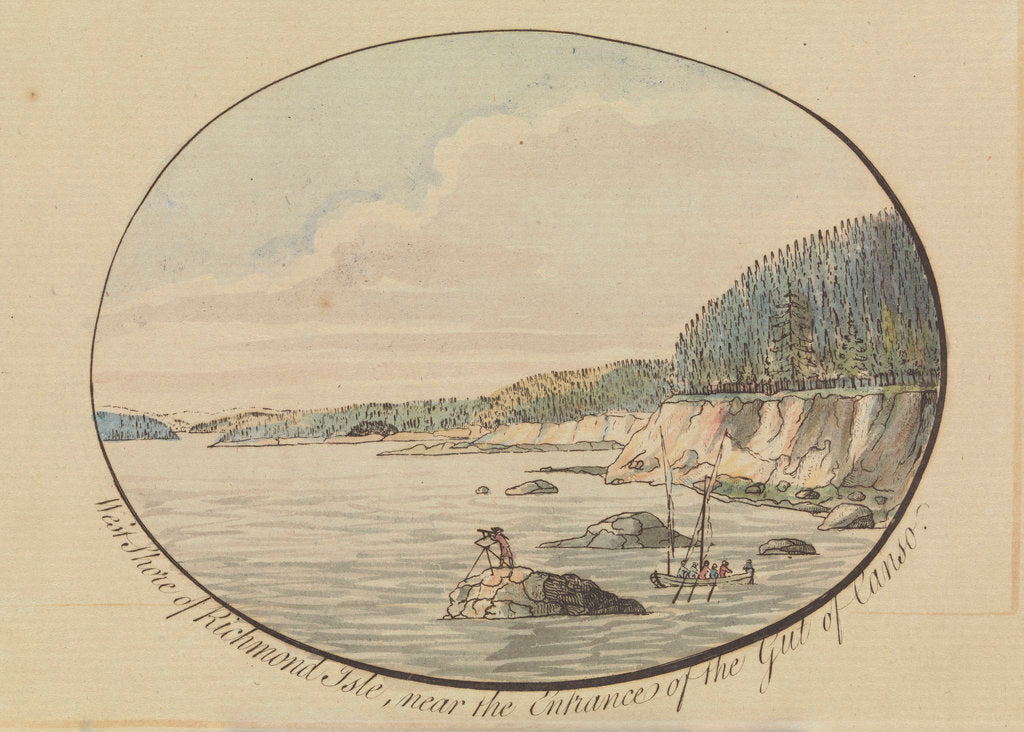 Detail of West shore of Richmond Isle by J.F.W. Des Barres