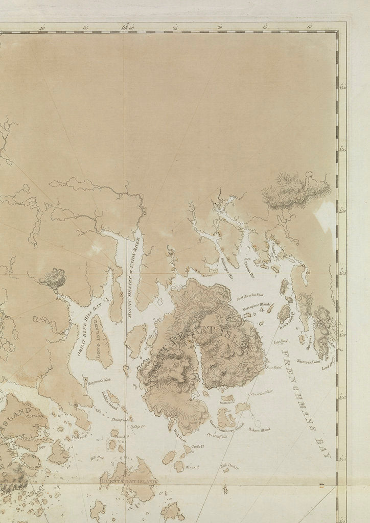 Detail of Penobscot Bay (detail) by J.F.W. Des Barres