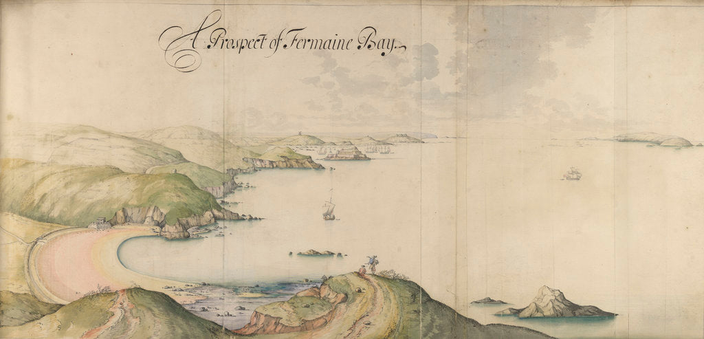 Detail of A prospect of Fermain Bay by Thomas Phillips