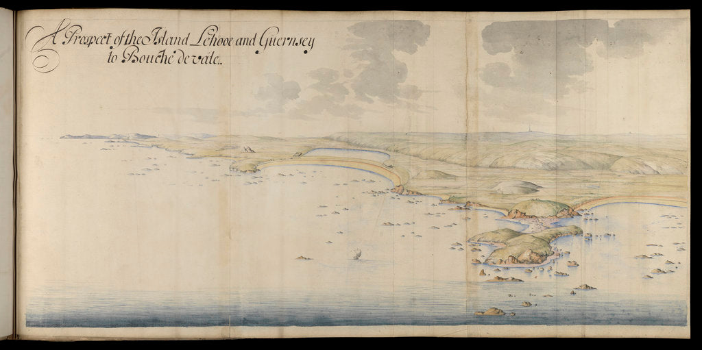 Detail of A prospect of the island of Lihou and Guernsey by Thomas Phillips