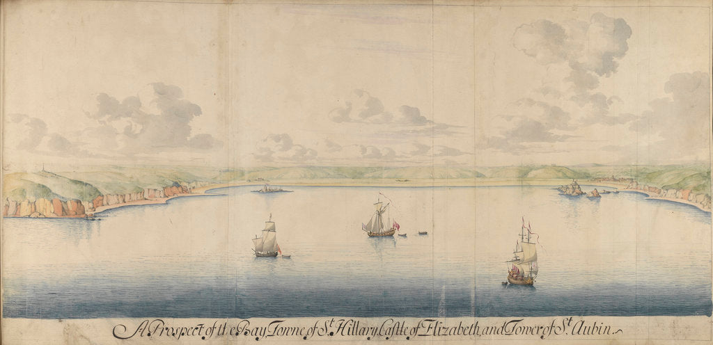 Detail of The Legge Report, 'Bay Towne of St Hilary - Castle Elizabeth' by Thomas Phillips