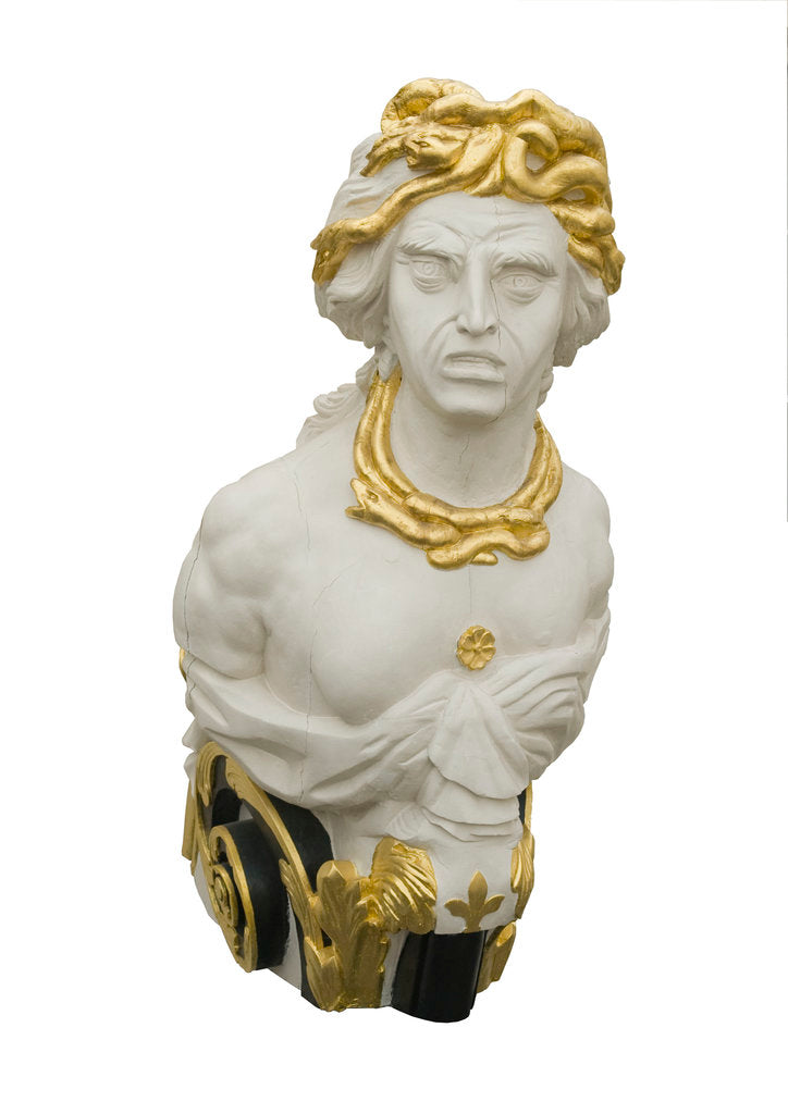 Detail of Medusa figurehead of HMS 'Implacable' by unknown