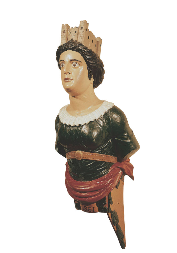 Detail of Figurehead of HMS 'London' by unknown