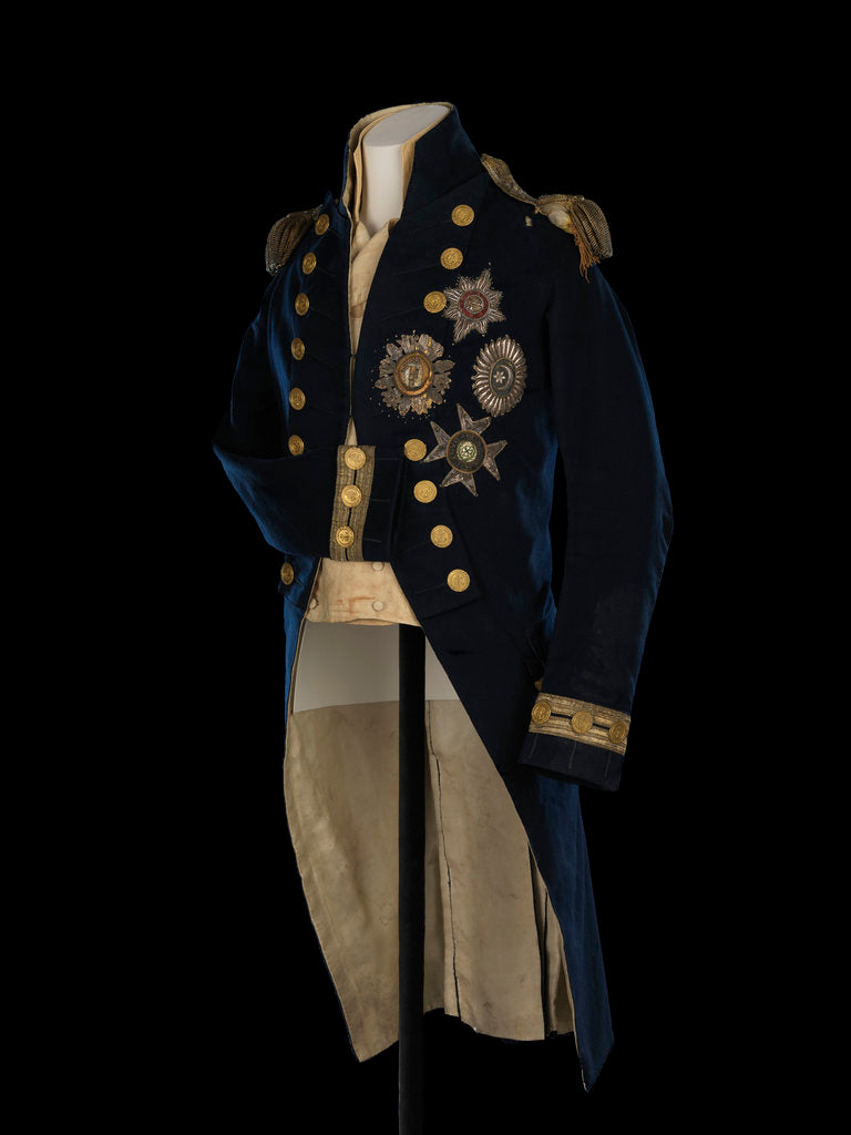 Detail of Royal Naval uniform: pattern 1795-1812, Nelson's Trafalgar coat by Anonymous