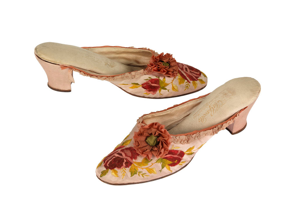 Detail of Silk slippers by unknown