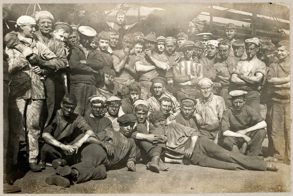 Detail of Group of Stokers in an album of Denis Q. Fildes, Commander RN 1906-1915 by unknown