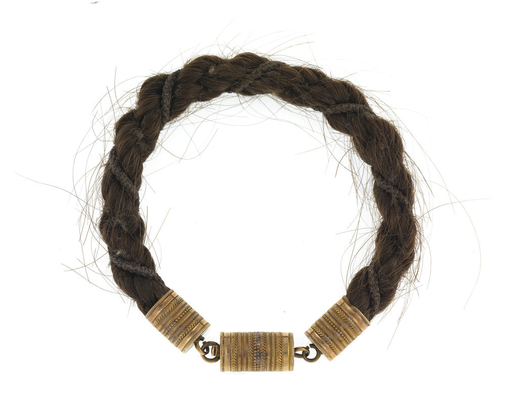 Detail of Hair bracelet by Anonymous