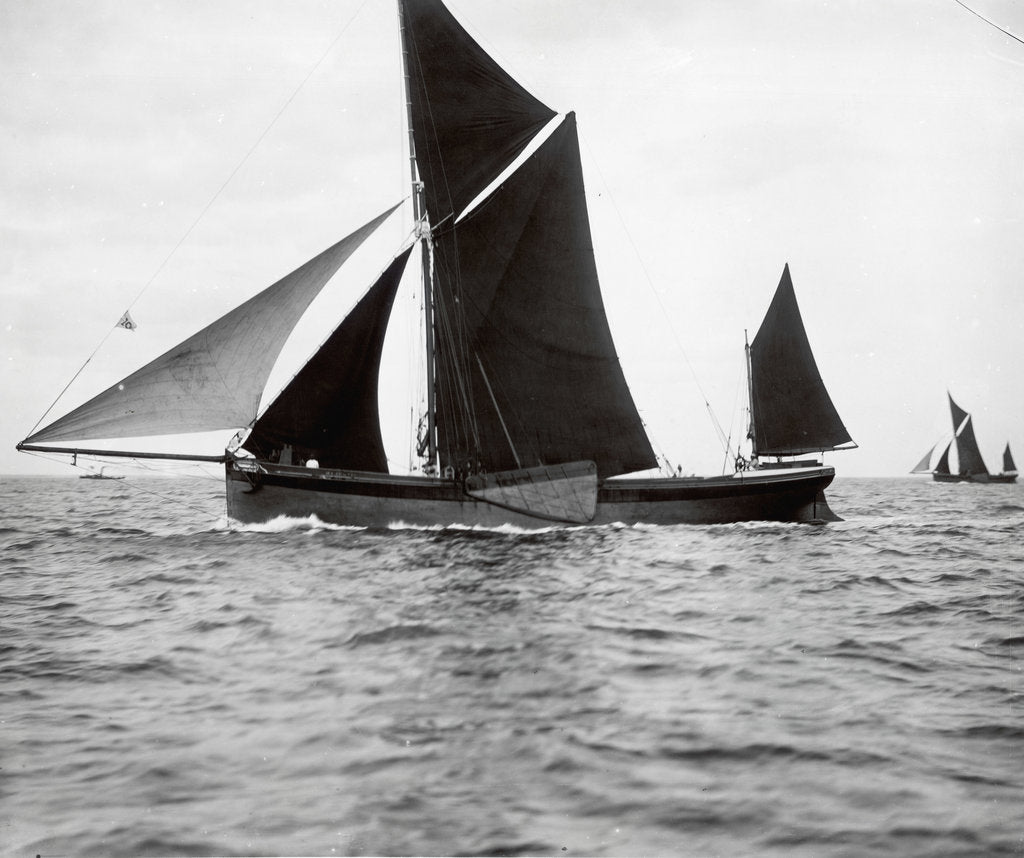 The spritsail barge 'Majestic' (1894) by F. C. Gould & Son