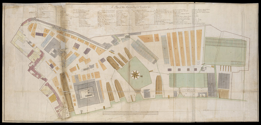 Detail of Plan of Deptford Dockyard by unknown