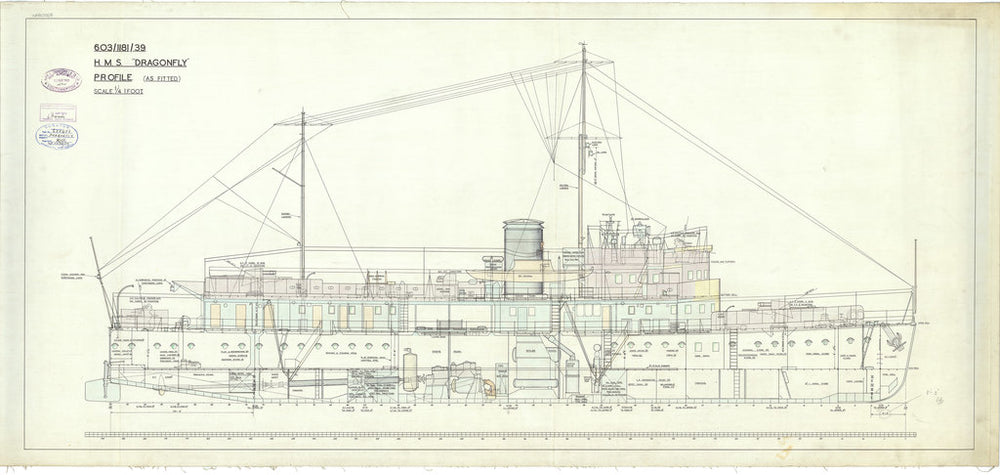 Profile plan for Dragonfly class of 1938