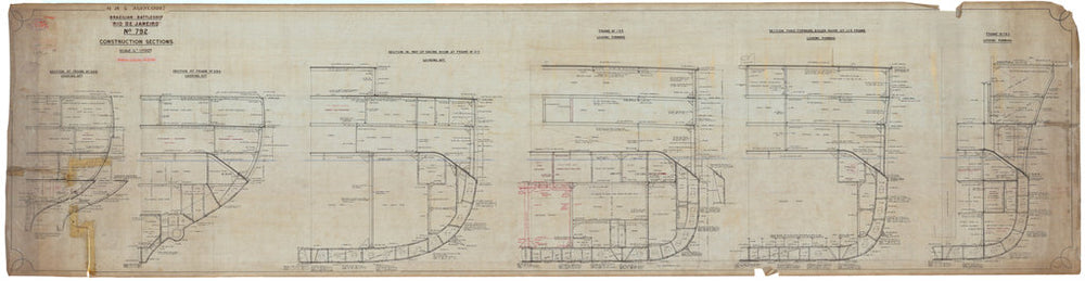 Constructional Section plan for HMS 'Agincourt' (1913)