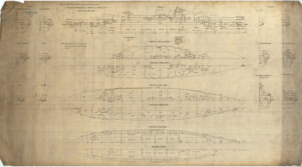 Armour & protection scheme for Royal Sovereign class of 1914-1915 (not built)