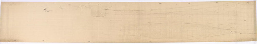 Class Body and Lines plan for 'CVA01'. (Box 1504) extremely faint