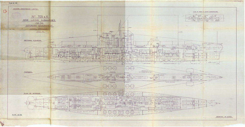 Plan 4352 General arrangement for Estonian Kalev class