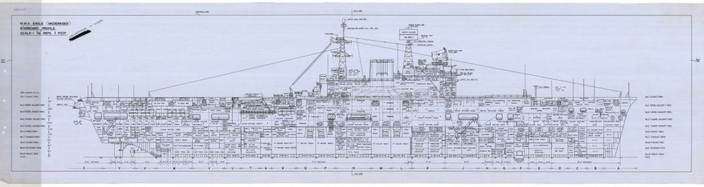 Starboard Profile plan for HMS 'Eagle' (1946)
