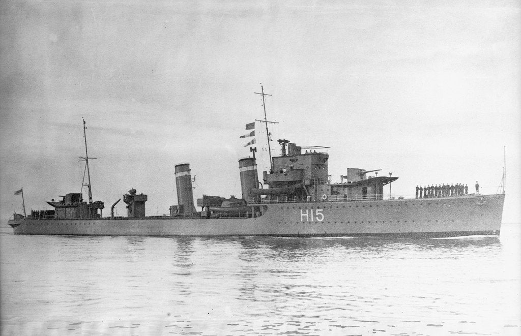 Detail of Destroyer HMS 'Esk' (1934) by unknown