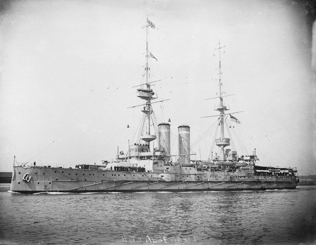 Detail of HMS 'Albemarle' (1901) battleship by unknown
