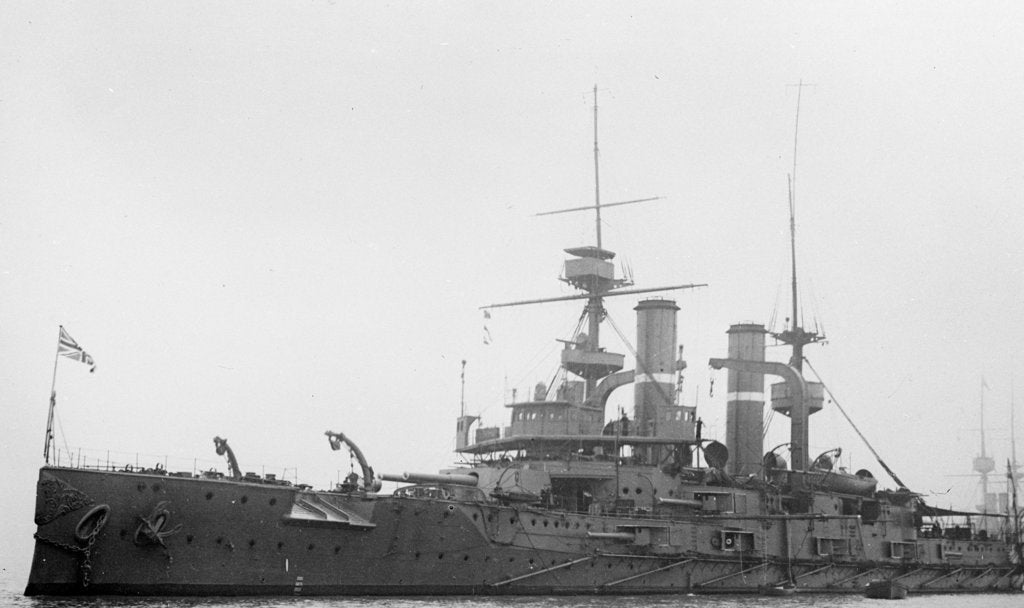 Detail of Battleship HMS 'Triumph' (1903) by unknown