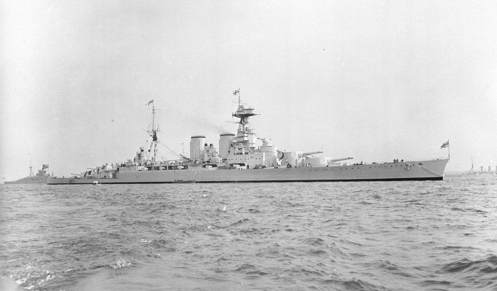 Detail of Battle cruiser HMS 'Hood' (1918) in 1937 by unknown