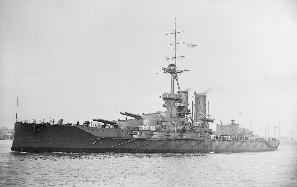 Detail of Battleship, HMS 'Iron Duke' (1912) by unknown