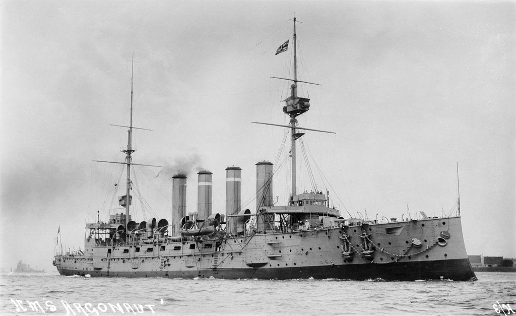 Detail of Photograph of the ship HMS 'Argonaut' in 1910 by unknown