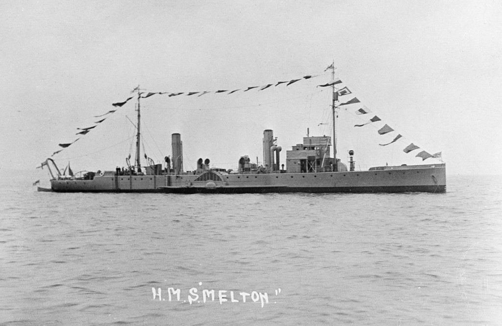 Detail of Photograph of the paddle minesweeper HMS 'Melton' 1924, Richard Perkins Collection by unknown