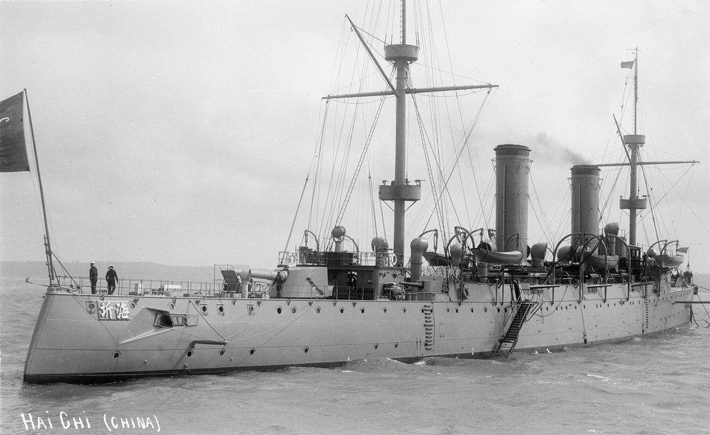 Detail of Protected cruiser 'Hai Chi' (China, 1898) by unknown