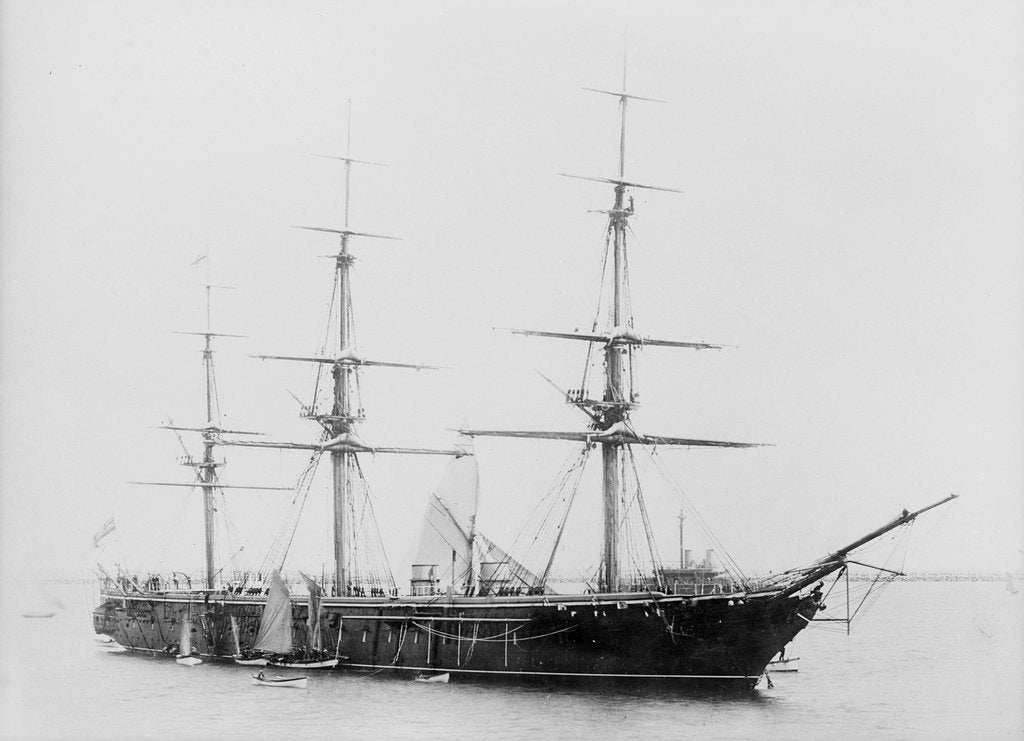 Detail of Armoured broadside ship HMS 'Warrior' (1860) by unknown
