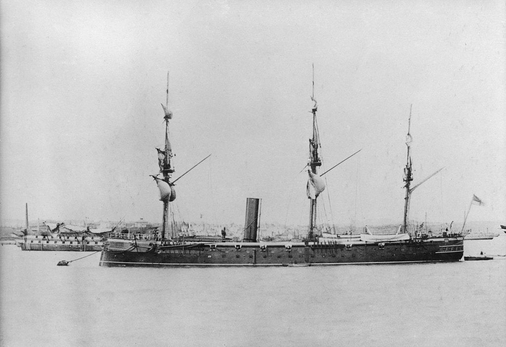 Detail of Photograph of HMS Thetis by unknown