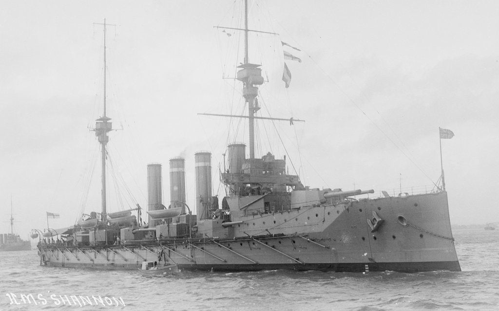 Detail of Armoured cruiser HMS 'Shannon' (1906) by unknown