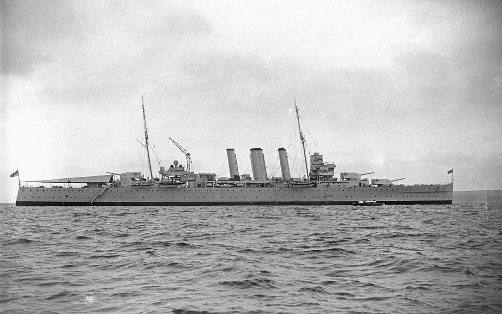 Detail of Heavy cruiser HMS 'Australia' (1927) by unknown