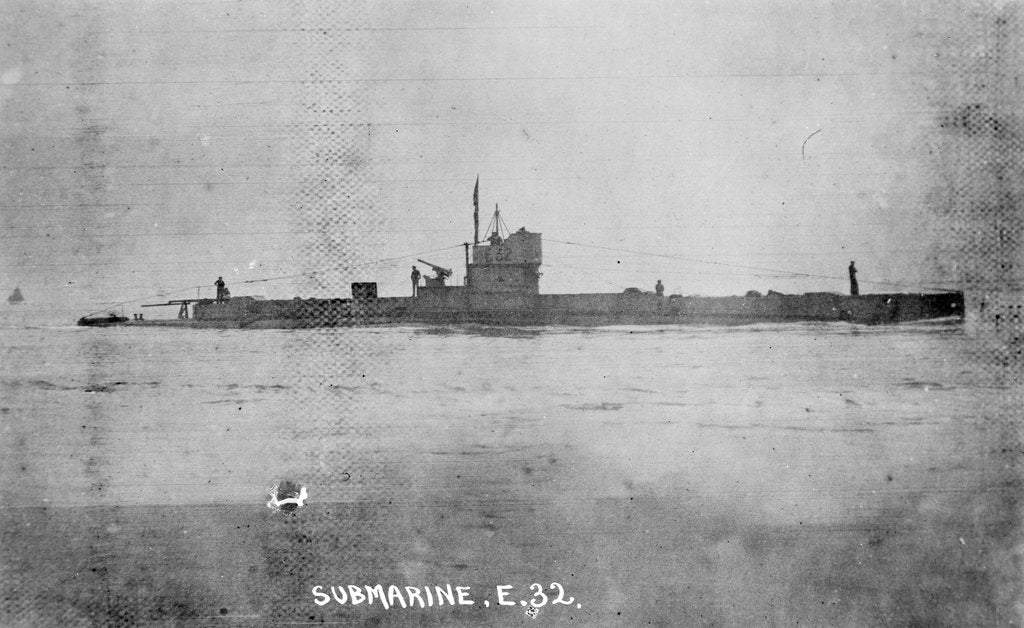 Detail of Submarine HMS 'E32' (1916) by unknown