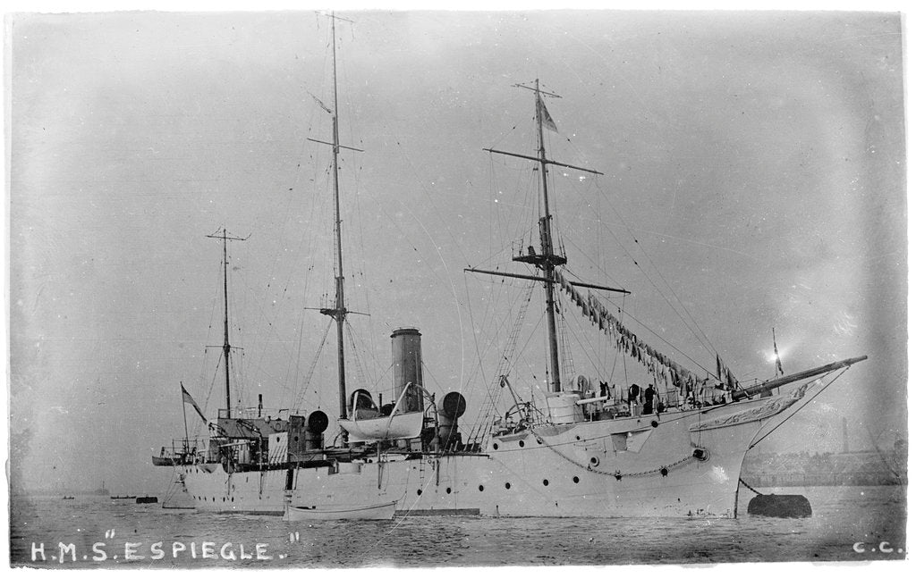 Detail of HMS 'Espiegle' (1900) by unknown