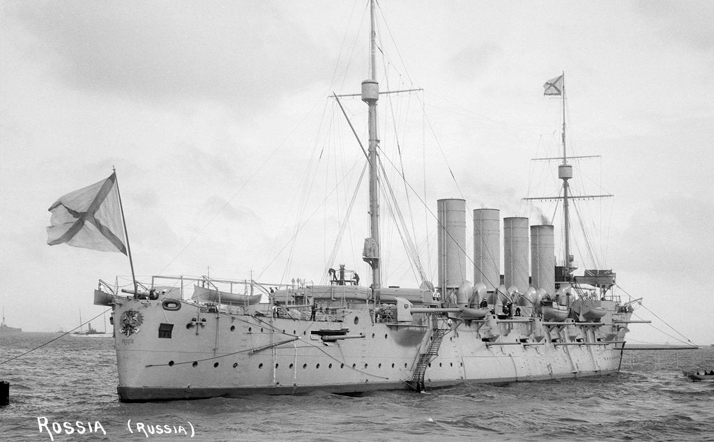 Detail of Armoured cruiser 'Rossiya' (Ru, 1896) by unknown